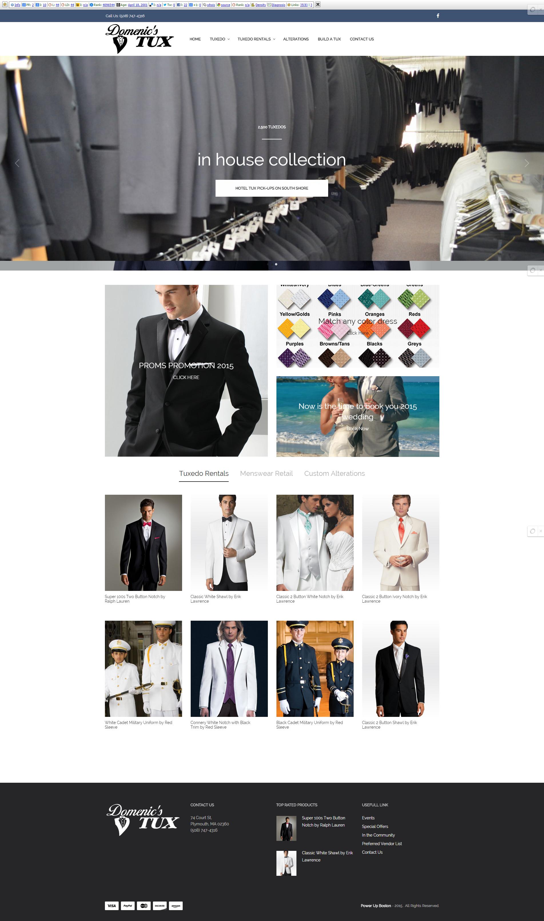 Domenic s Tux   Fine Men s Clothing