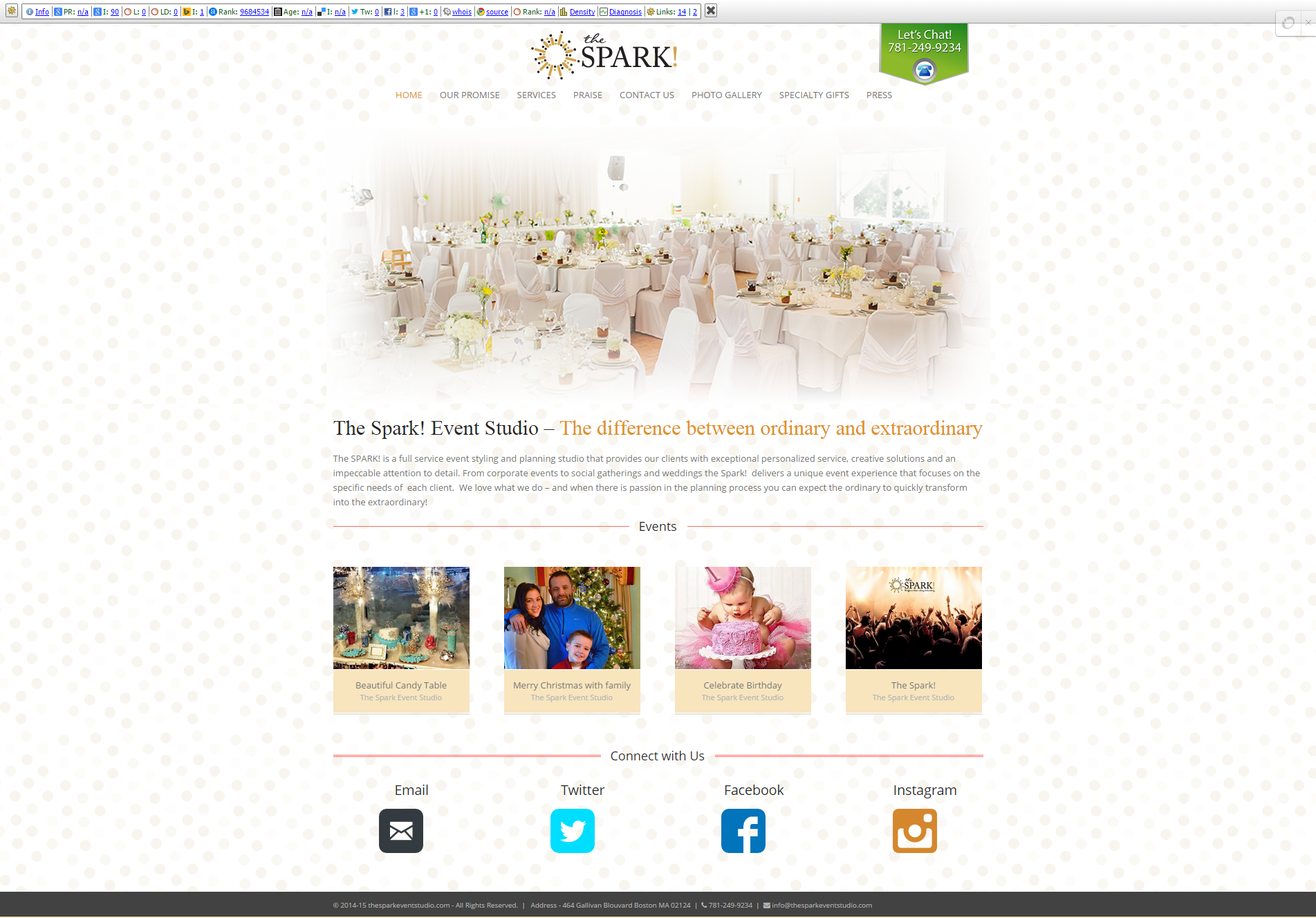 The Spark    Specializing in social and corporate events in the greater Boston area